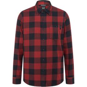 Black Diamond Zodiac Flannel Shirt Men, dark crimson/smoke plaid